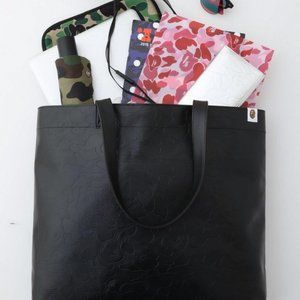 A BATHING APE Bape Leather Tote bag